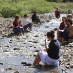 Meditazione lungo il torrente Sisola al Parco Mongiardino, Val Borbera